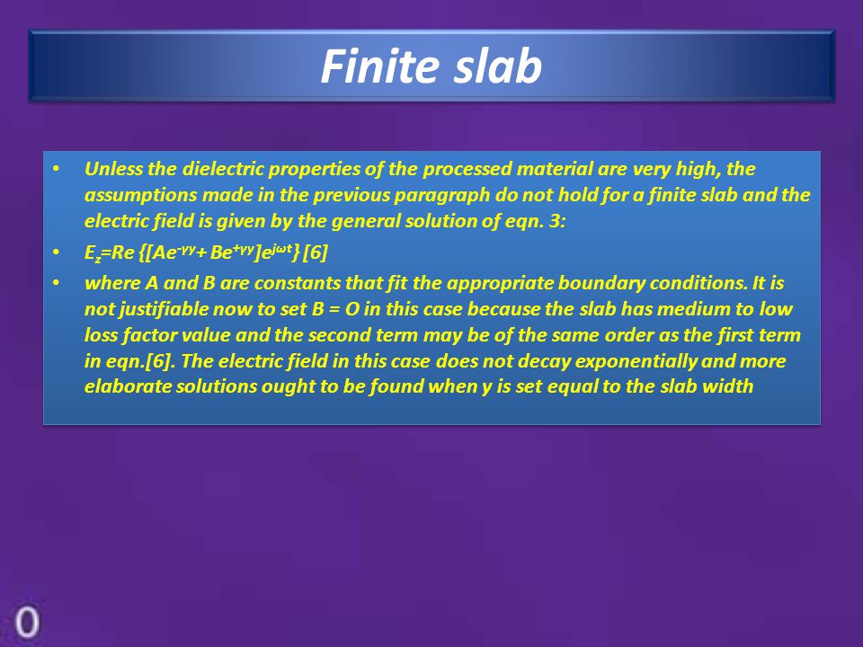 Finite slab