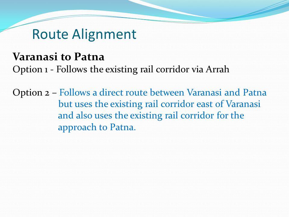 Route Alignment Varanasi to Patna