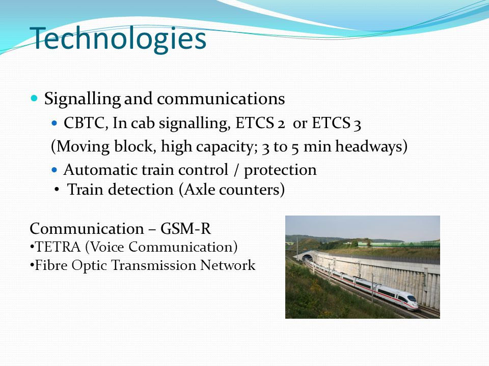 Technologies Signalling and communications