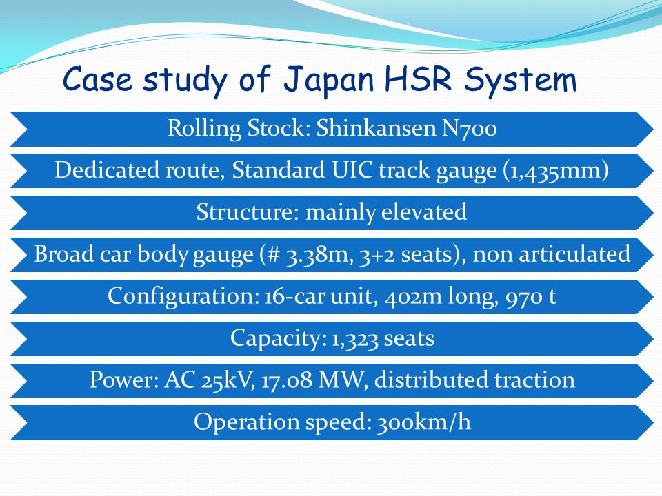 Case study of Japan HSR System