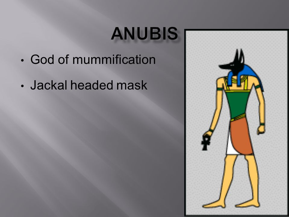 God of mummification Jackal headed mask
