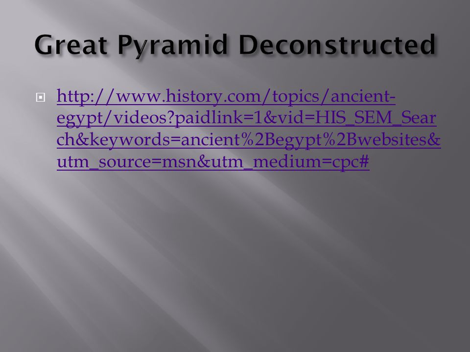 Great Pyramid Deconstructed