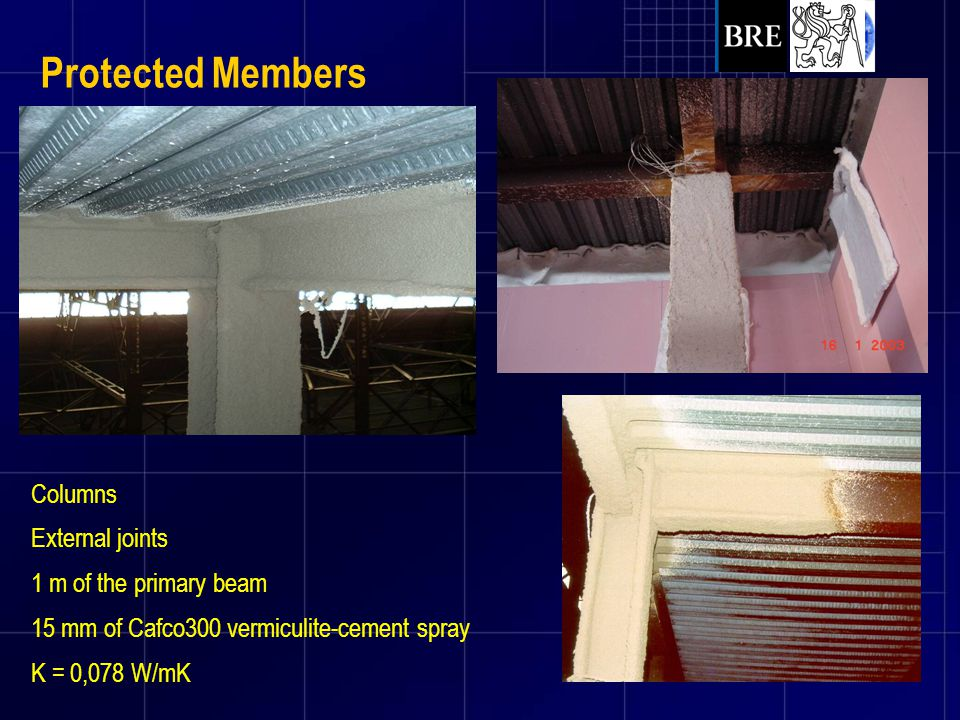 Protected Members Columns External joints 1 m of the primary beam