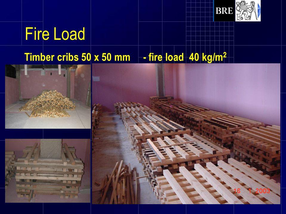Fire Load Timber cribs 50 x 50 mm - fire load 40 kg/m2