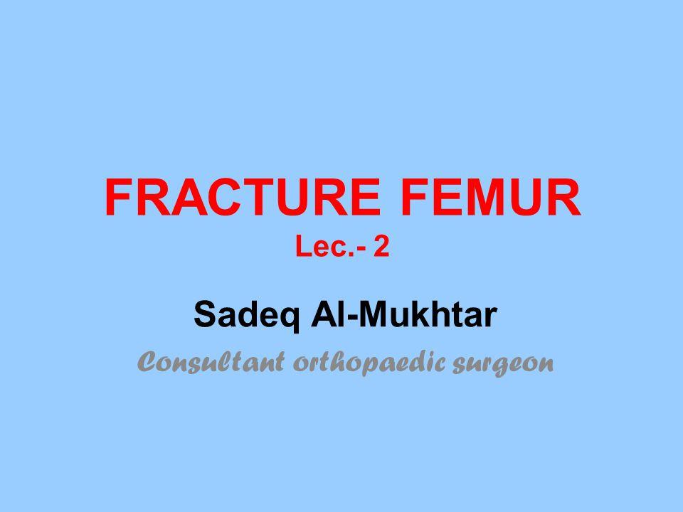 Sadeq Al-Mukhtar Consultant orthopaedic surgeon