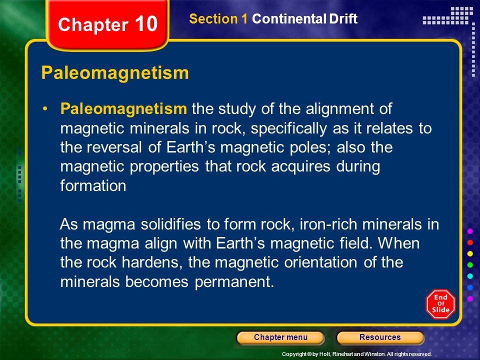 Chapter 10 Paleomagnetism