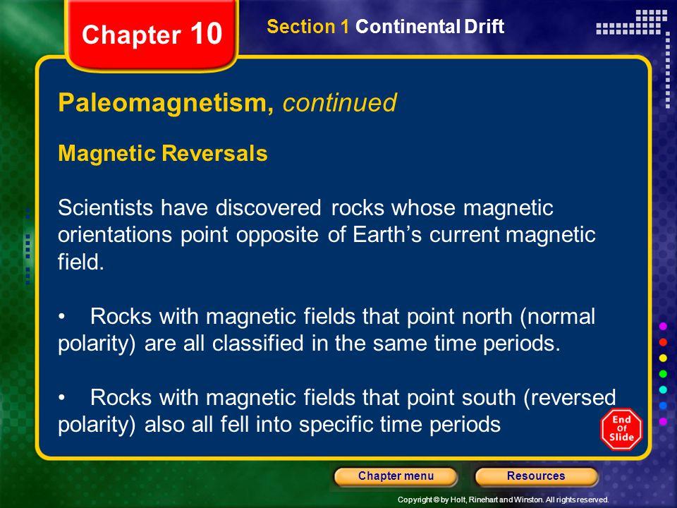 Paleomagnetism, continued