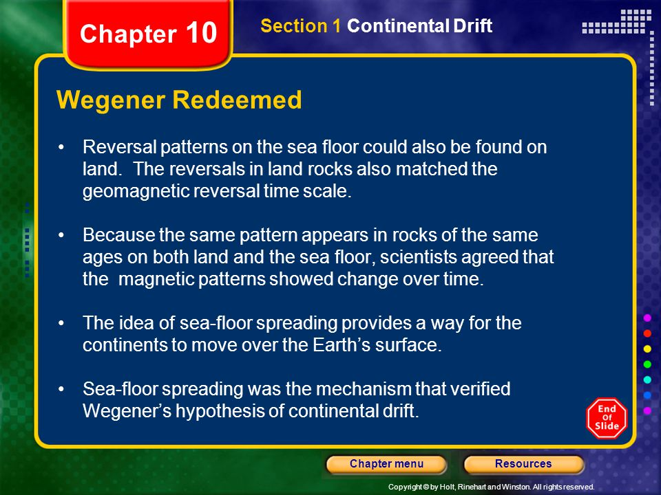Chapter 10 Wegener Redeemed Section 1 Continental Drift