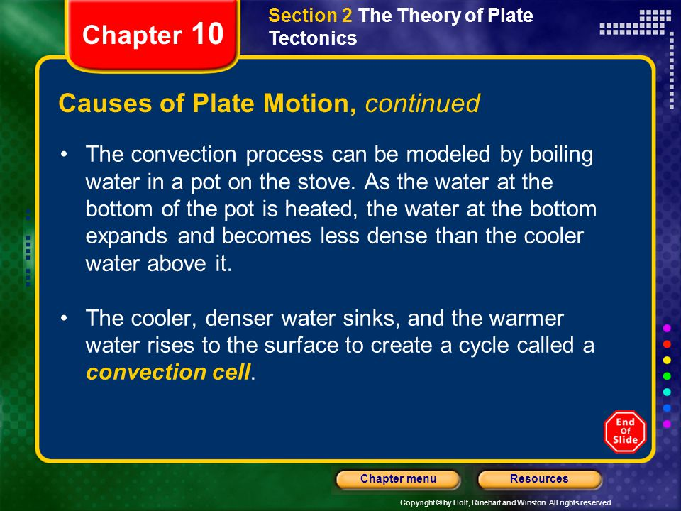 Causes of Plate Motion, continued