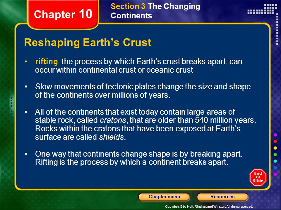 Reshaping Earth's Crust