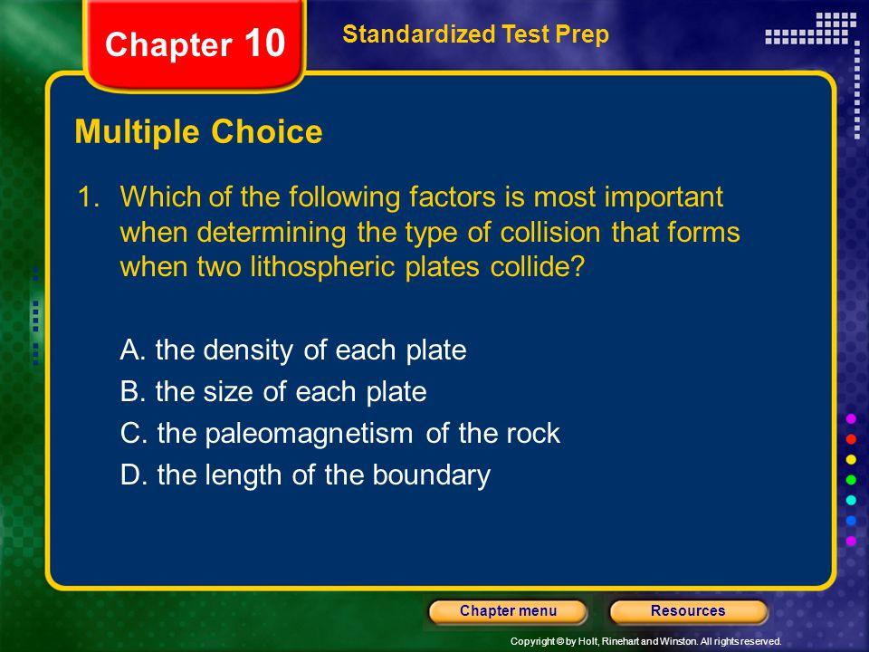 Chapter 10 Multiple Choice