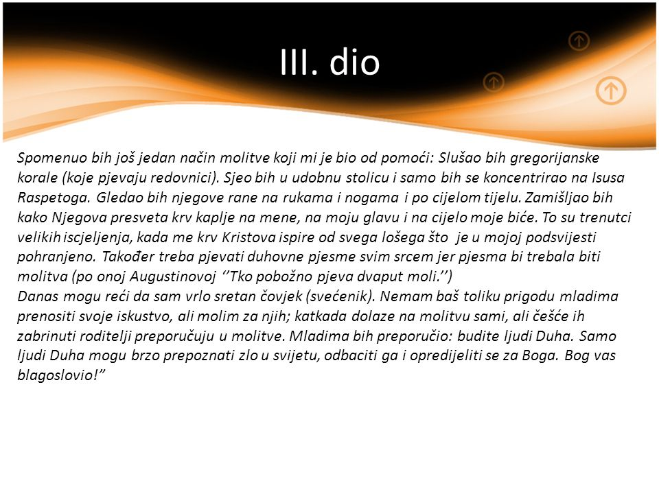 III. dio