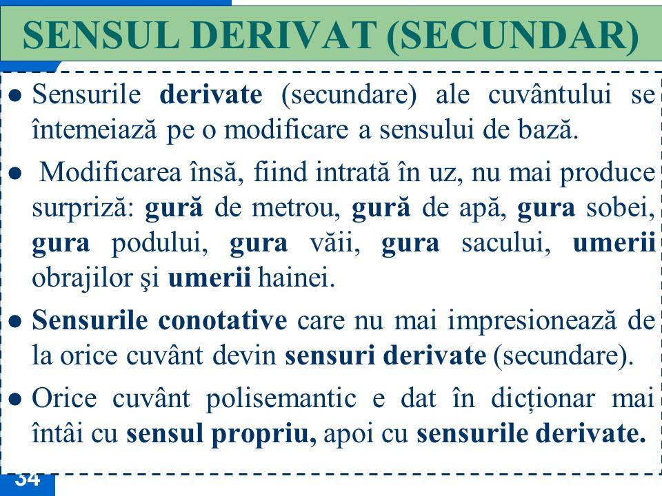 SENSUL DERIVAT (SECUNDAR)
