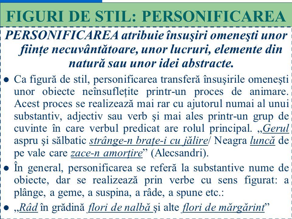FIGURI DE STIL: PERSONIFICAREA