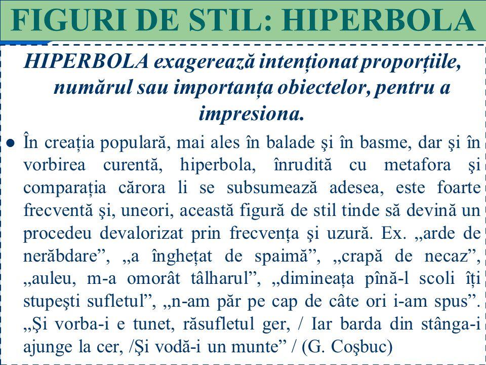 FIGURI DE STIL: HIPERBOLA