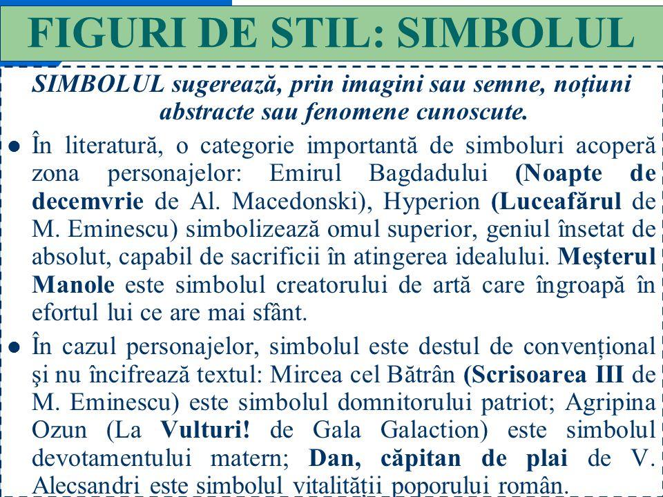 FIGURI DE STIL: SIMBOLUL