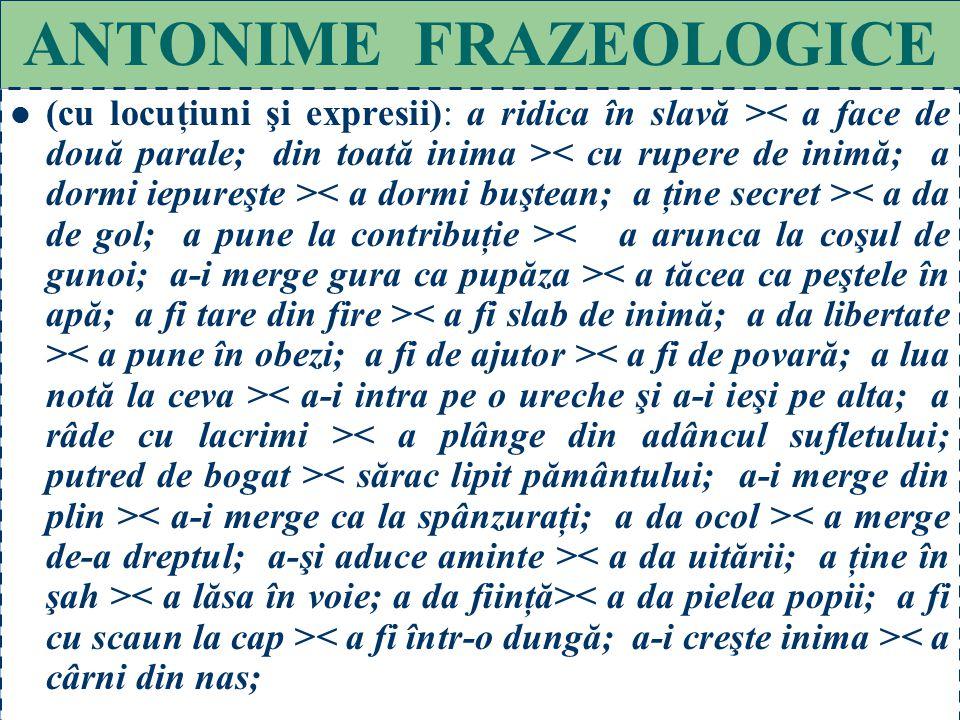 ANTONIME FRAZEOLOGICE
