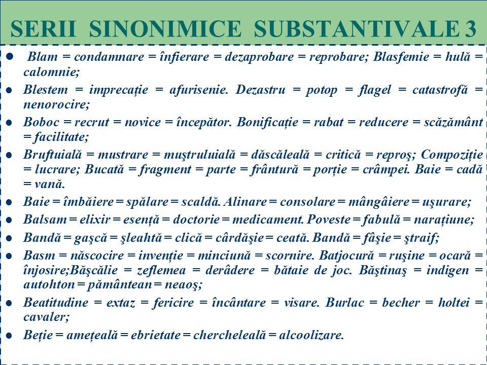 SERII SINONIMICE SUBSTANTIVALE 3
