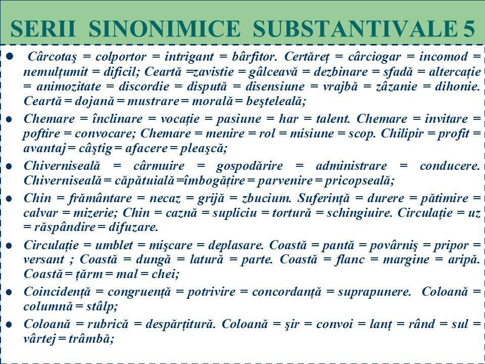 SERII SINONIMICE SUBSTANTIVALE 5