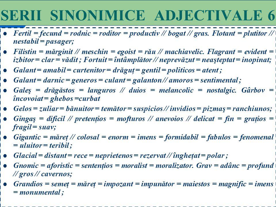 SERII SINONIMICE ADJECTIVALE 6