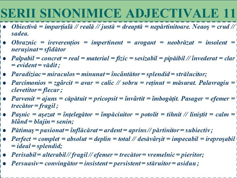 SERII SINONIMICE ADJECTIVALE 11