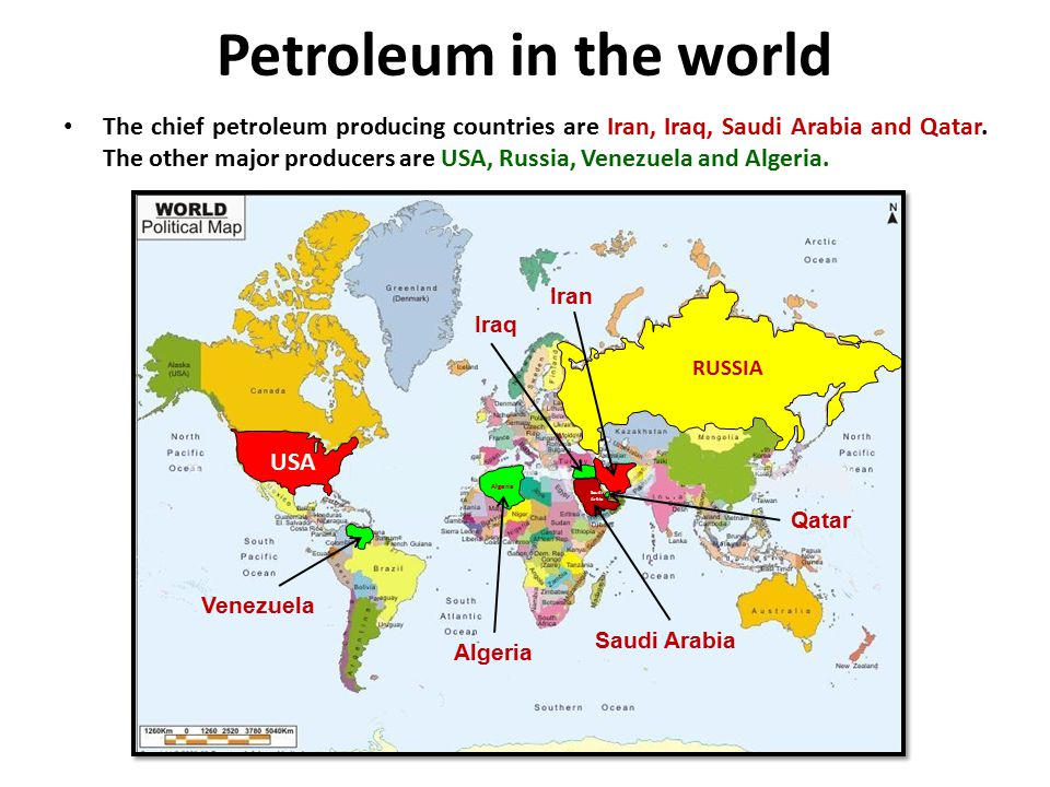 Petroleum in the world