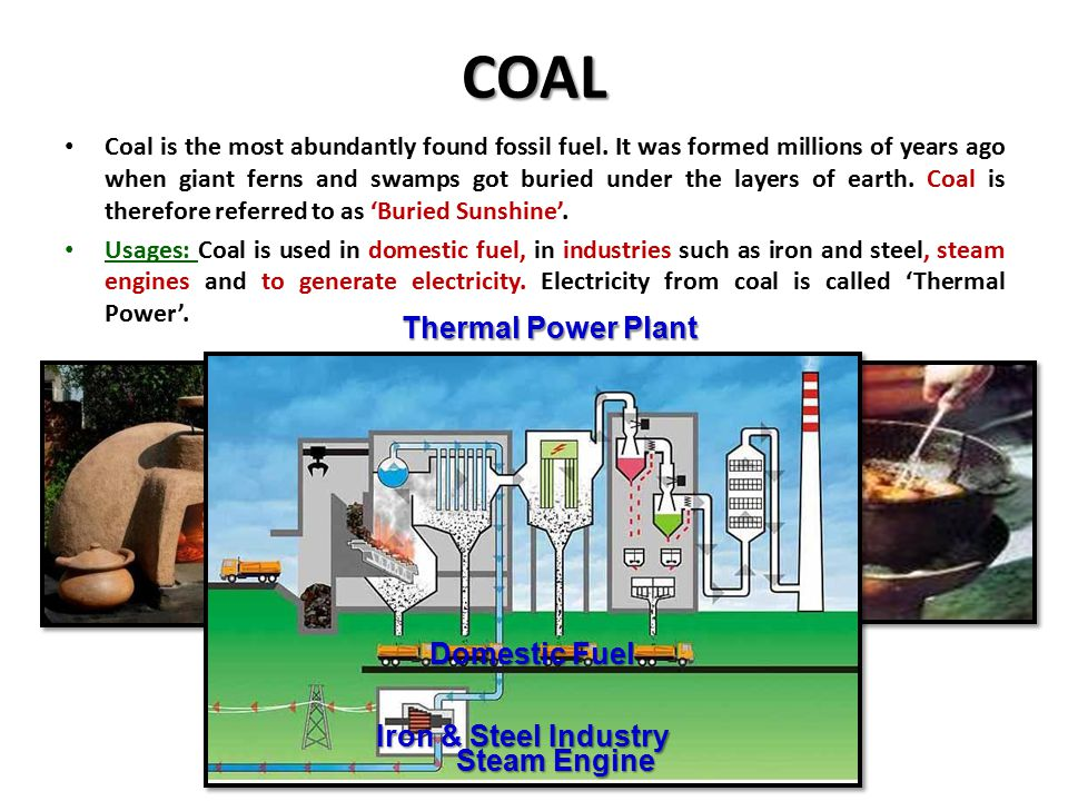 COAL Thermal Power Plant Domestic Fuel Iron & Steel Industry