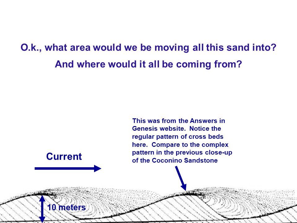 O. k. , what area would we be moving all this sand into