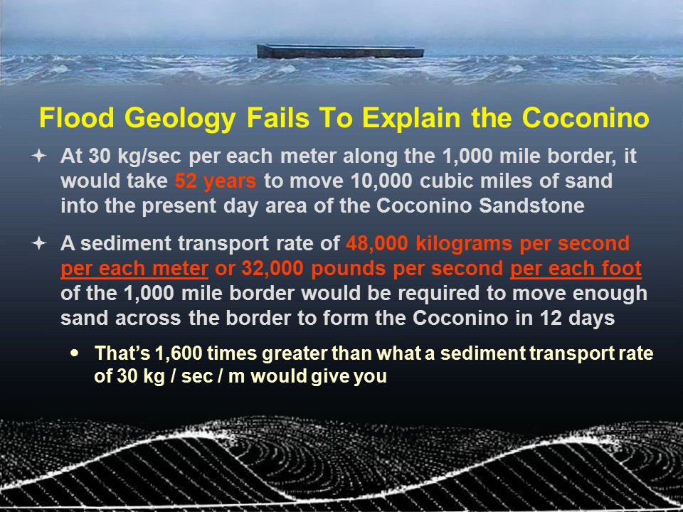 Flood Geology Fails To Explain the Coconino