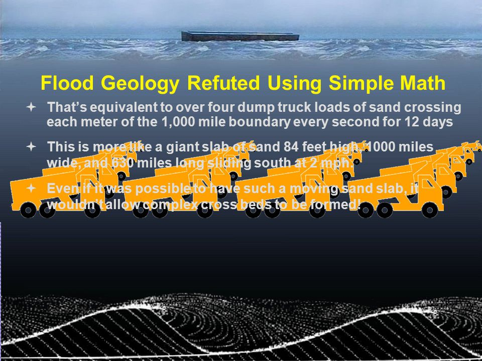 Flood Geology Refuted Using Simple Math