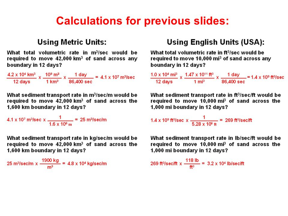 Calculations for previous slides: