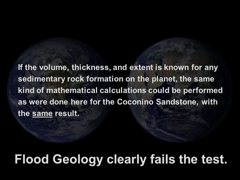 Flood Geology clearly fails the test.