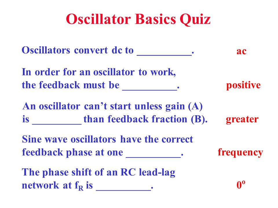 Oscillator Basics Quiz