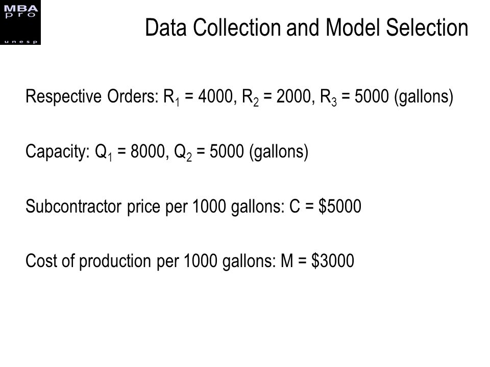 Data Collection and Model Selection