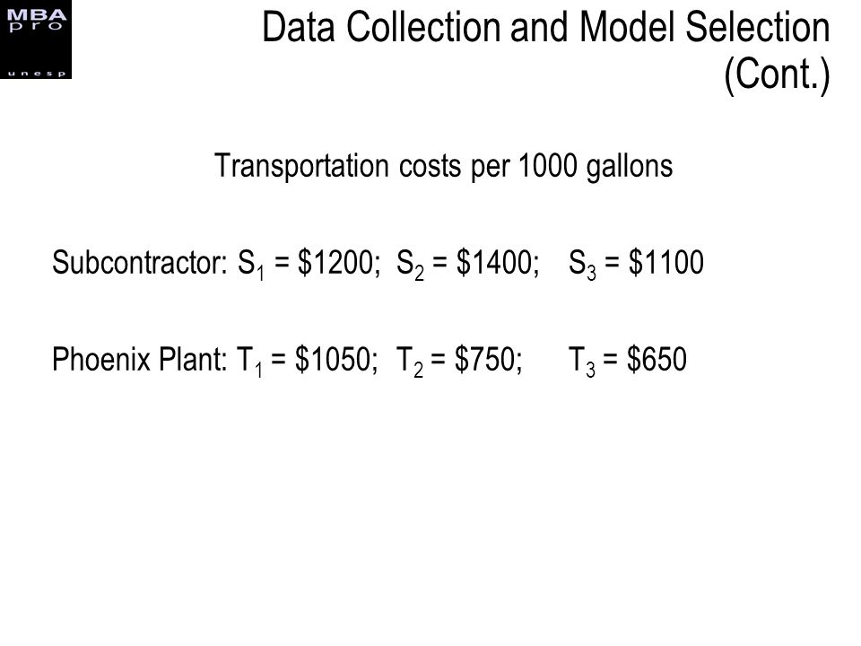 Data Collection and Model Selection (Cont.)