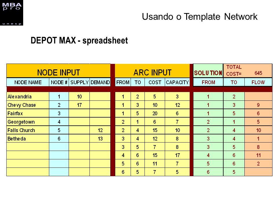 DEPOT MAX - spreadsheet