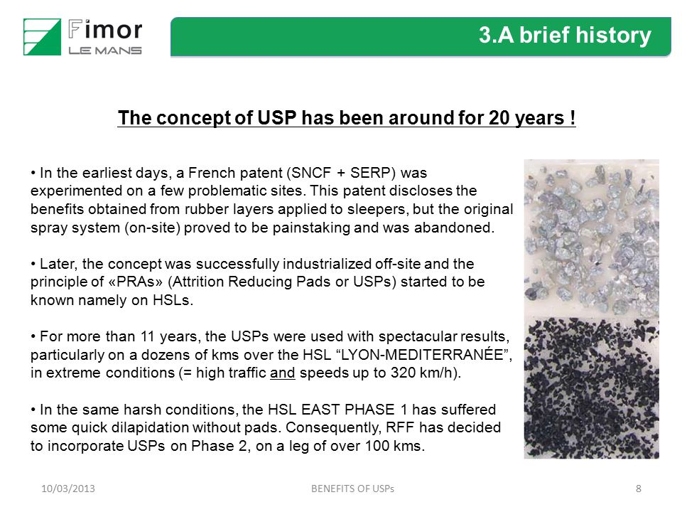 The concept of USP has been around for 20 years !