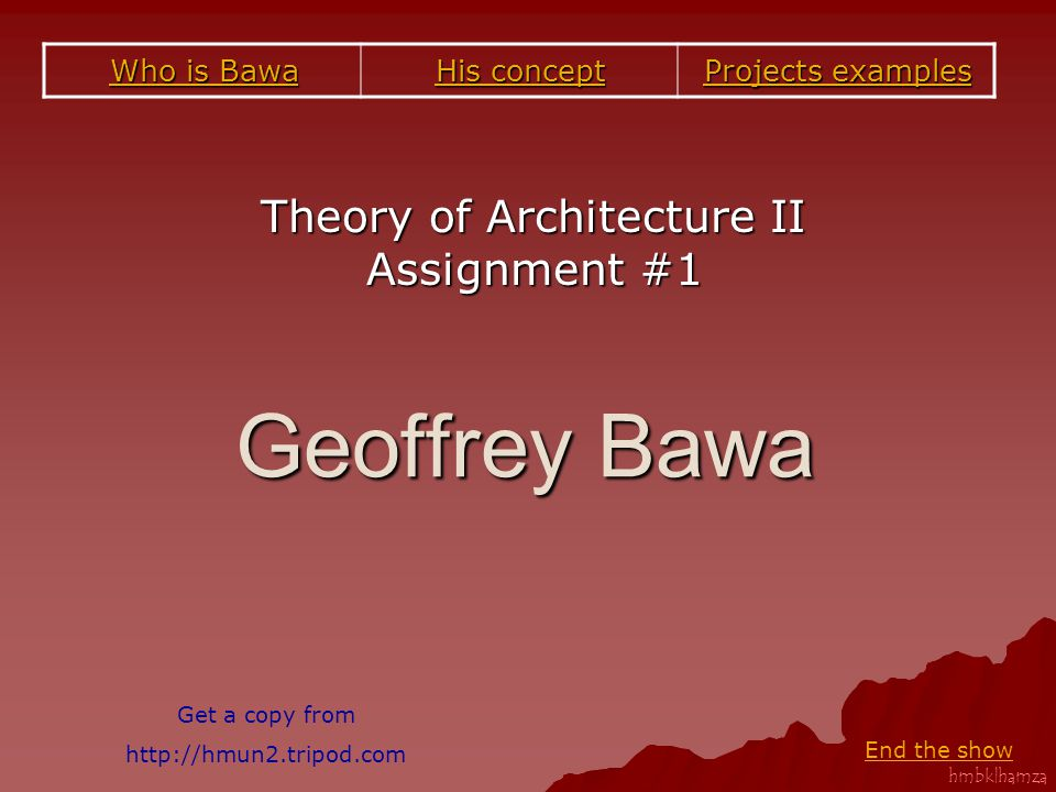 Theory of Architecture II Assignment #1