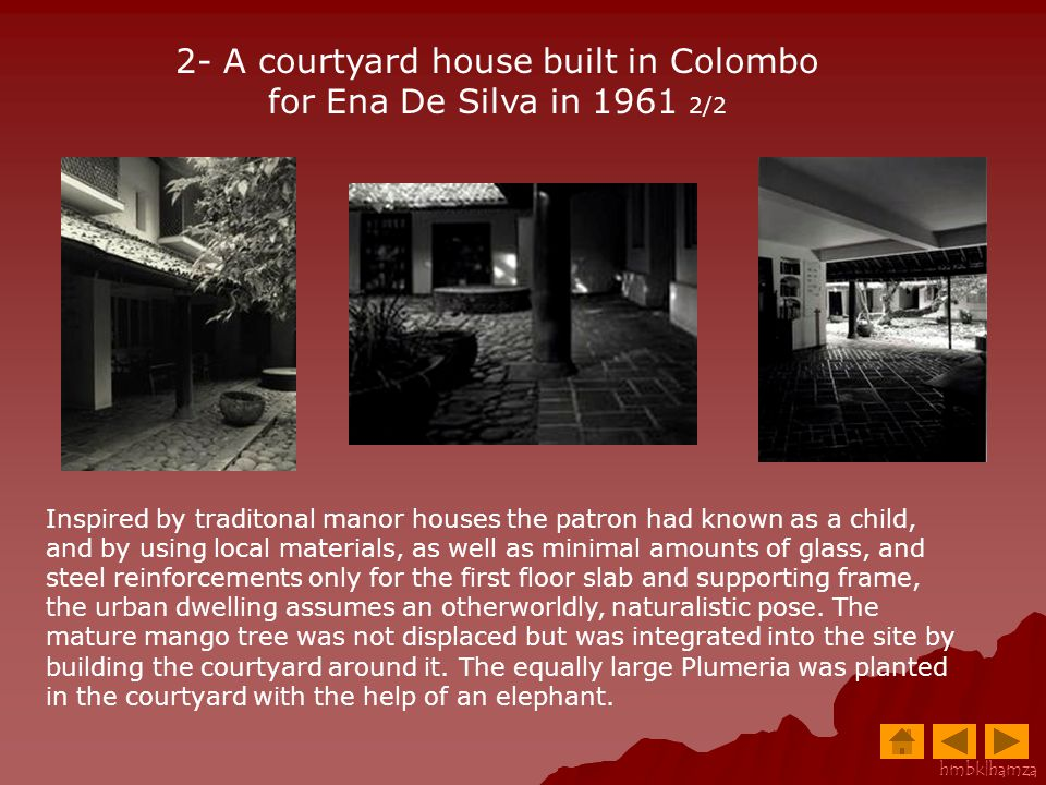2- A courtyard house built in Colombo for Ena De Silva in 1961 2/2