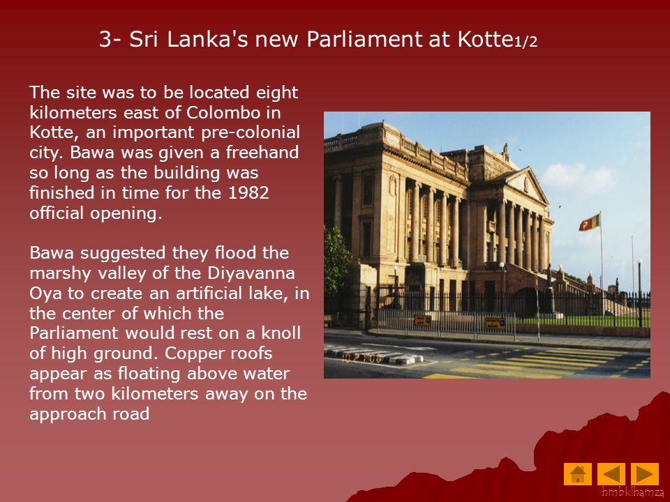 3- Sri Lanka s new Parliament at Kotte1/2