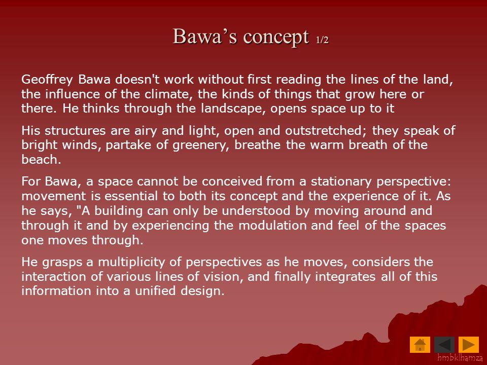 Bawa's concept 1/2
