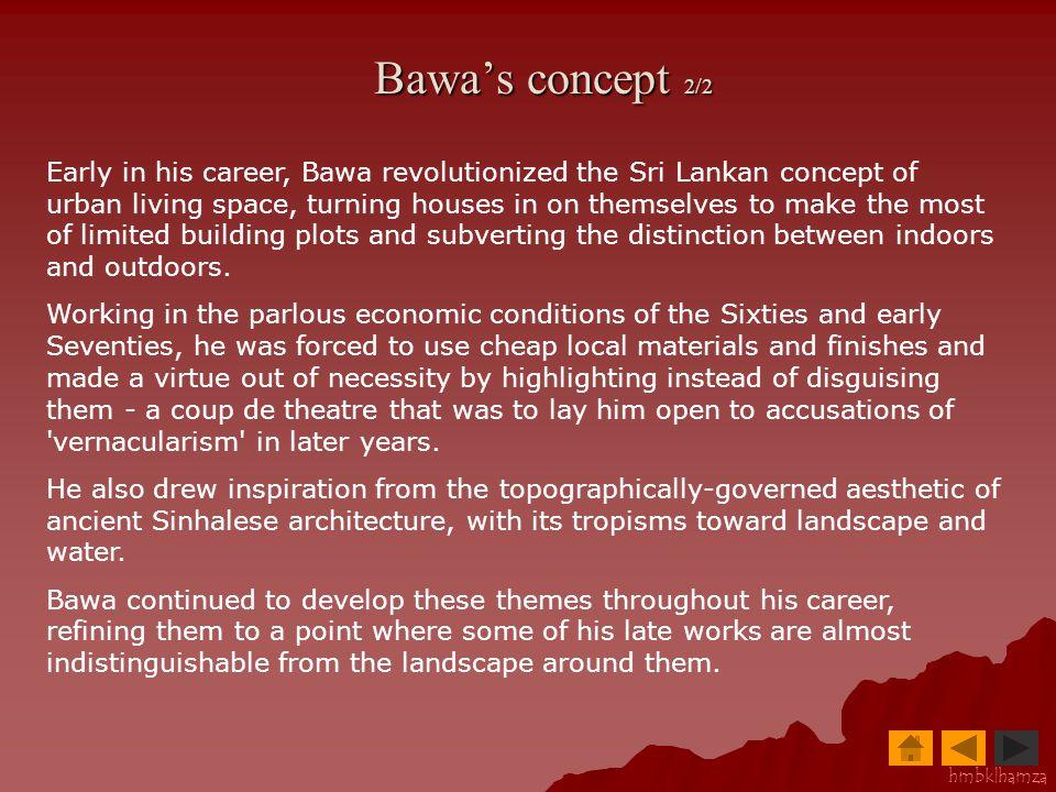 Bawa's concept 2/2