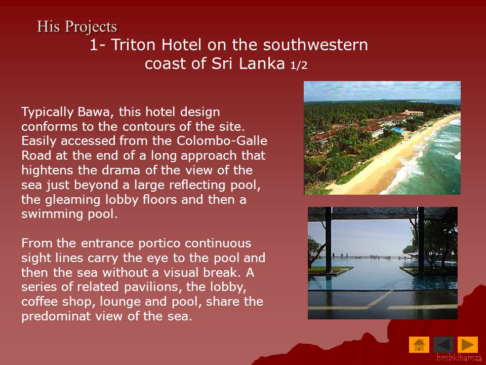 1- Triton Hotel on the southwestern coast of Sri Lanka 1/2