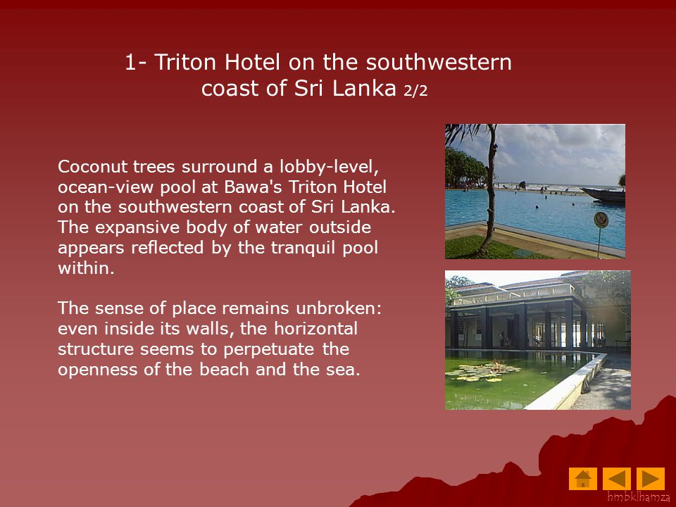1- Triton Hotel on the southwestern coast of Sri Lanka 2/2