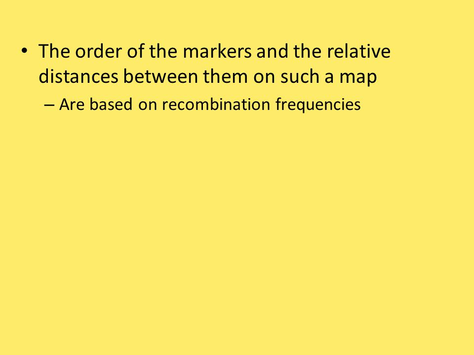 The order of the markers and the relative distances between them on such a map