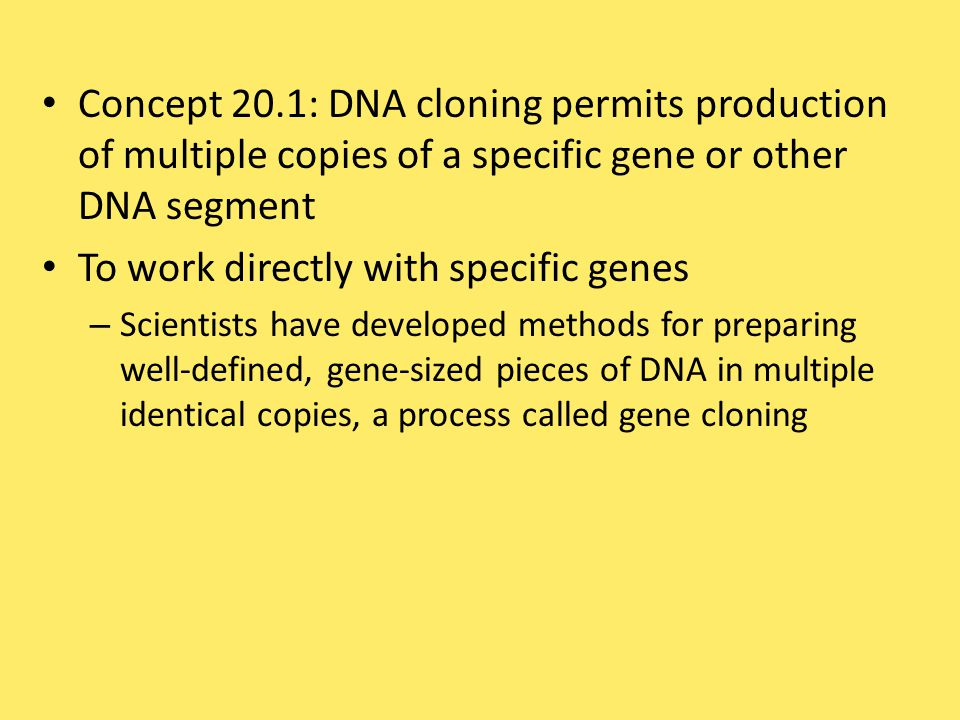 To work directly with specific genes