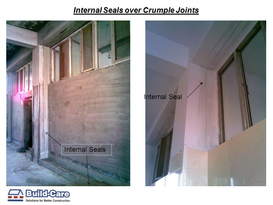 Internal Seals over Crumple Joints