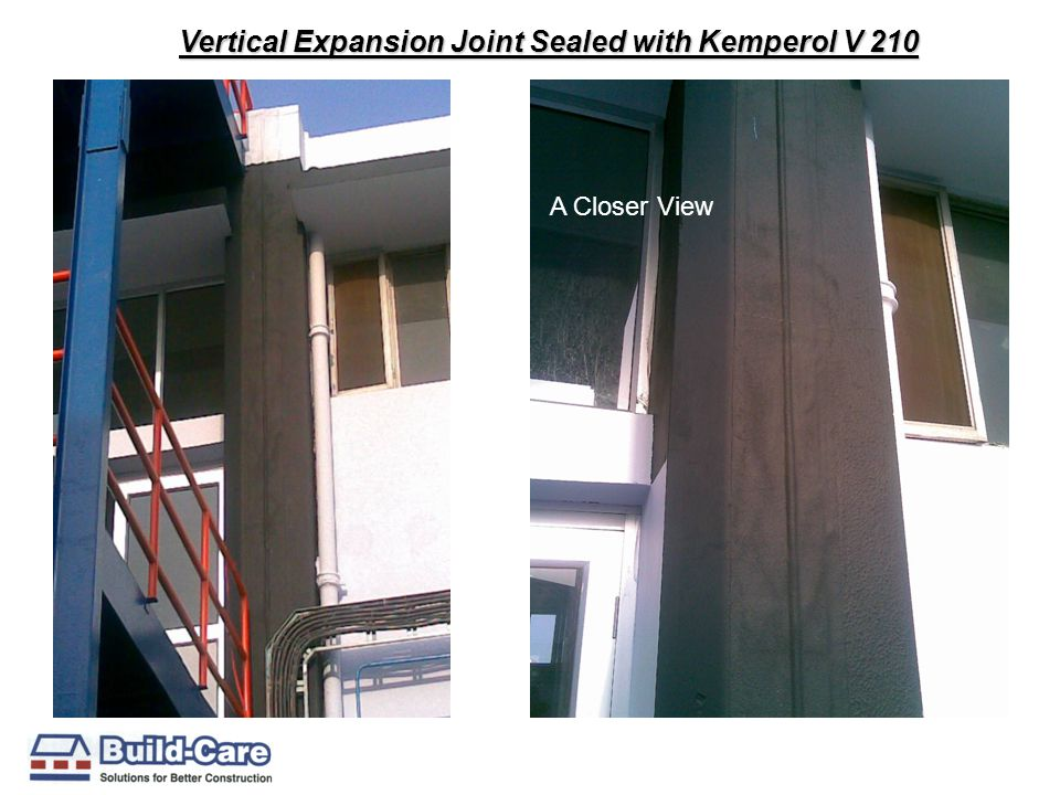 Vertical Expansion Joint Sealed with Kemperol V 210