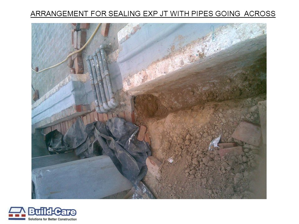 ARRANGEMENT FOR SEALING EXP JT WITH PIPES GOING ACROSS