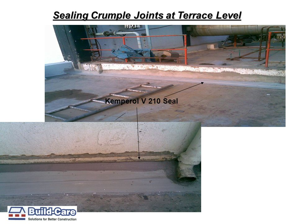 Sealing Crumple Joints at Terrace Level